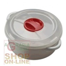 PLASTIC CONTAINER FOR MICROWAVE WITH VALVE LT. 1,5