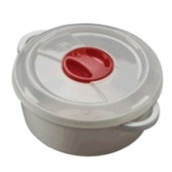 PLASTIC CONTAINER FOR MICROWAVE WITH VALVE LT. 2