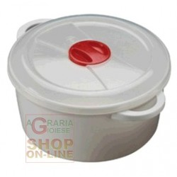 PLASTIC CONTAINER FOR MICROWAVE WITH VALVE LT. 3
