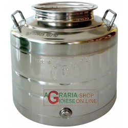 STAINLESS STEEL CONTAINER FOR FOOD LT. 30 HEAVY TYPE WITH THE