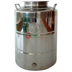 STAINLESS steel CONTAINER FOR FOOD TYPE HEAVY-BOTTOM WELD lt. 50