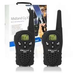 PAIR 2 MIDLAND TRANSCEIVER dual-band PMR446/LPD G5 XT BLACK