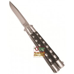 CROSSNAR KNIFE BUTTERFLY BUTTERFLY HANDLE BLACK BLADE STAINLESS