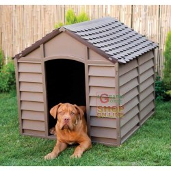 KENNEL FOR MEDIUM DOGS PLASTIC PVC CM.78x84x80h. REMOVABLE BROWN
