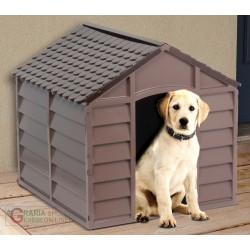 KENNEL FOR SMALL DOGS PLASTIC PVC CM.71x71x68h. REMOVABLE BROWN