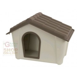KENNEL FOR DOGS IN RESIN COLOR BEIGE TORTORA CM. 57,3 X 39.4