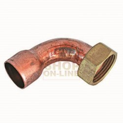 CURVE COPPER, 90 DEGREE WITH NUT MM 22 X 3/4 IN.