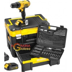 DEWALT DRILL DRIVER 14.4 V DCK733C2T KIT WITH 2 LITHIUM