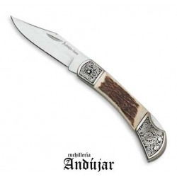 ANDUJAR HANDLE IN DEER BLADE CM. 9