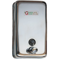 DISPENSER DISTRIBUTORE DI SAPONE LIQUIDO INOX ml. 750