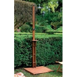 GARDEN SHOWER WITH PLATFORM YELLOW BALAU CARIBBEAN