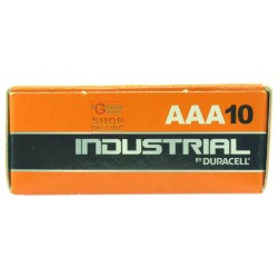 DURACELL BATTERIE PILE INDUSTRIAL ALKANI MINISTILO BOX PZ.10 AAA
