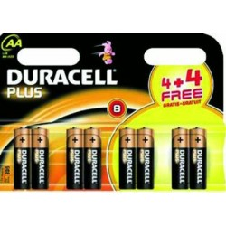 DURACELL ALKALINE BATTERIES, THE STYLUS PCS. 8