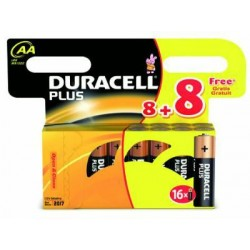DURACELL AA BATTERIES 8+8 MN PLUS 16 BATTERIES