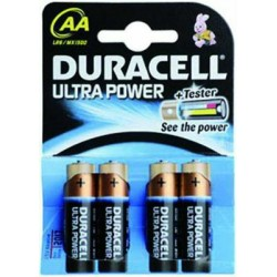 DURACELL BATTERIES ULTRA-POWER ALK. 4 PCS AA 1500