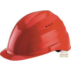 PROTECTIVE HELMET MATERIAL ABS GR 285 WITH SWEATBAND RED