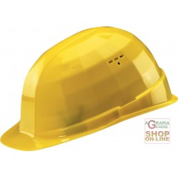 PROTECTIVE HELMET WITH ADJUSTABLE SWEATBAND COLOR YELLOW