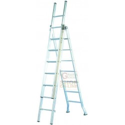 FACAL LADDER, ALUMINIUM INDUSTRIAL TYPE 3 RAMPS 9+9+9