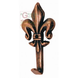 APPENDIQUADRO LILY BRONZE FINISH No. 2 MM. 47 HIGH PCS. 5