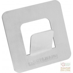 FACKELMANN ADHESIVE HOOK IN BRUSHED STAINLESS STEEL 5X5X2 CM.