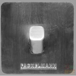 FACKELMANN ADHESIVE HOOK IN BRUSHED STAINLESS STEEL 5X5X3,5 CM.