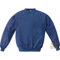 SWEATSHIRT CREW NECK 100% POLYESTER 300 GR SQM COLOR BLU TG