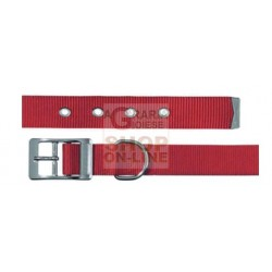 FERPLAST DOG COLLAR PERFORATED RED CLUB CF20-43