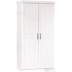 2 CUPBOARD DOORS WITH SHELVES IN SOLID PINE WHITE cm. 95x55x190H