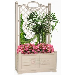 Planter with backrest Bama Divider color white cm. 80x42,5x150h