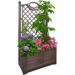 Planter with backrest Bama Divider color wood cm. 80x42,5x150h