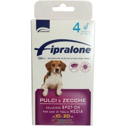Fipralone pesticide flea and tick spot-on dog 10 - 20 kg