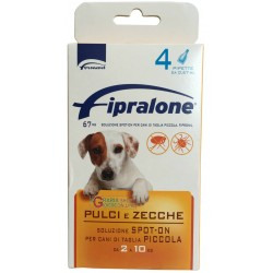 Fipralone pesticide flea and tick spot-on dog 2 - 10 kg pipette
