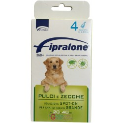 Fipralone pesticide flea and tick spot-on dog 20 - 40kg