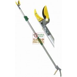 SCISSORS FOR PRUNING, TELESCOPIC ROD, ROUND ALUMINUM MT. 1,3 - 2