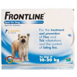 FRONTLINE ANTI-PARASITE, FLEA AND TICK SPOT-ON 10 - 20 KG.
