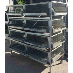 CAGE BATTERY FOR CHICKS CHICKENS HENS PHARAOHS FGGIANI QUAIL