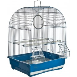 CAGE FOR CANARIES MODEL TORINO CM. 35 X 28 X 46H. BLUE COLOR