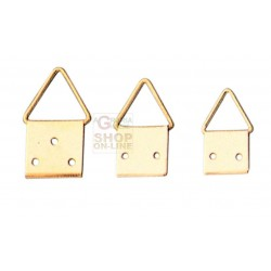 HANGERS brass-PLATED STEEL ball JOINT No. 0 WITH NAILS PCS. 20