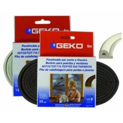 GEKO STRIP WEATHER STRIP RUBBER WHITE MT. 6