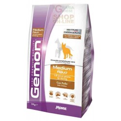 GEMON MANGIME PER CANI MEDIUM ADULT CON POLLO KG. 15