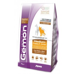 GEMON FEED DOG MEDIUM PUPPY JUNIOR WITH CHICKEN AND RICE KG. 3