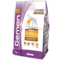 GEMON FOOD FOR DOGS MINI ADULT WITH CHICKEN-RICE KG. 1