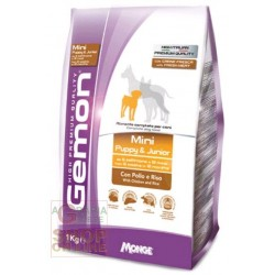 GEMON FOOD FOR DOGS MINI ADULT WITH CHICKEN-RICE KG. 3
