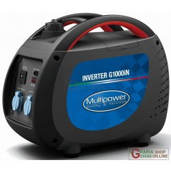 GENERATOR INVERTER PORTABLE PROFESSIONAL MULTIPOWER G1000iN KVA