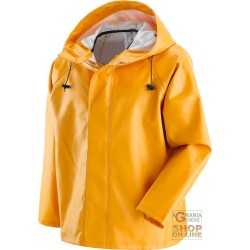 JACKET 100% WATERPROOF PVC 0 65 MM COLOR YELLOW TG M XXL
