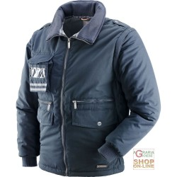 JACKET IN POLYESTER / COTTON WITH PLASTIC SHEETING DETACHABLE