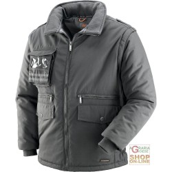 JACKET IN POLISTERE COTTON WITH PLASTIC SHEETING DETACHABLE