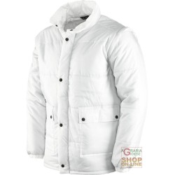 JACKET NYLON WITH REMOVABLE SLEEVES COLOR WHITE TG S-M-L-XL-XXL