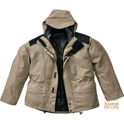 JACKET TRIPLE USE NYLON FABRIC POLYESTER COLOR BEIGE BLACK