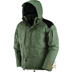 JACKET TRIPLE USE NYLON FABRIC POLYESTER COLOR GREEN BLACK